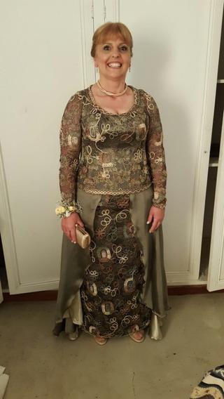 Vestido Usado Fiesta Largo Forrado Importante Ideal Madrina