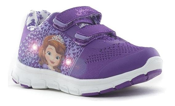 Zapatillas Addnice Flex Sofia Velcro Violetas De Niños