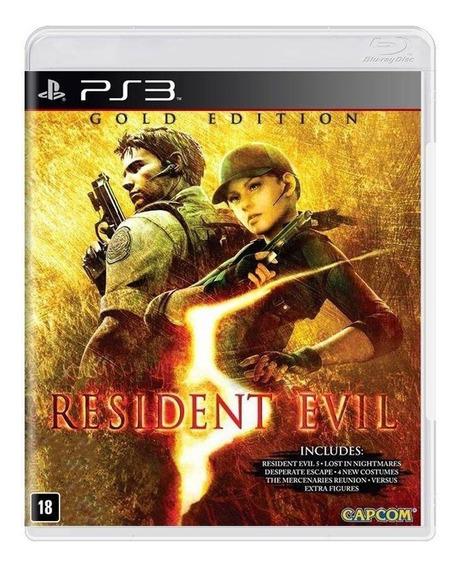 Jogo Resident Evil 5 Gold Edition - Ps3 - Novo - Mídia Física - Original - Lacrado