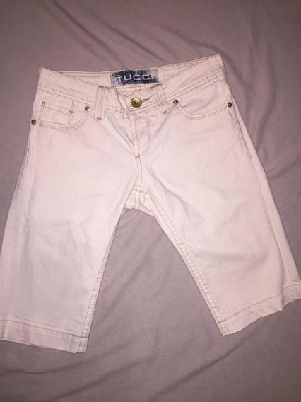 Bermudas Jeans Tucci, Talle 21, Elastizada,color Natural