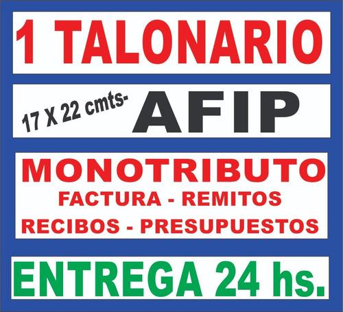 1 Talonario Factura A B Monotributo Remitos R Afip 24 Hs Mercado Libre