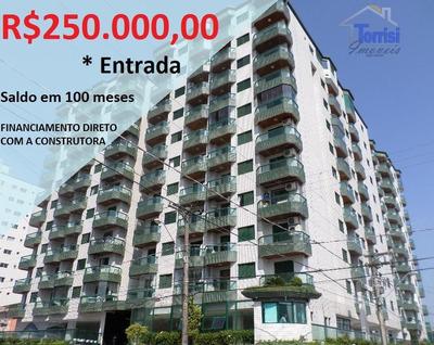Cobertura Em Praia Grande, R$250.000,00 De Entrada, 03 Dormitórios Sendo Suítes, Na Guilhermina Co0021 - Co0021