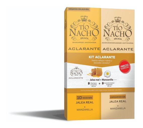 Pack Tío Nacho Aclarante Shampoo + Acondic. De 415 Ml C/u