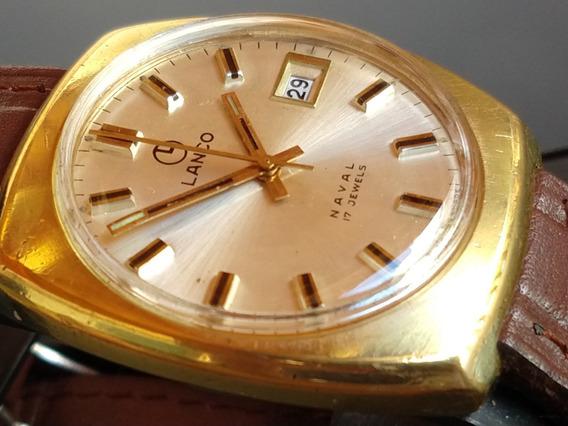 Relógio Lanco Tradicional Swiss - Banho A Ouro