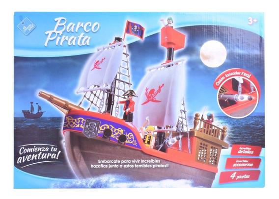Barco Pirata Con Muñecos El Duende Azul 6442 Tipo Playmobil