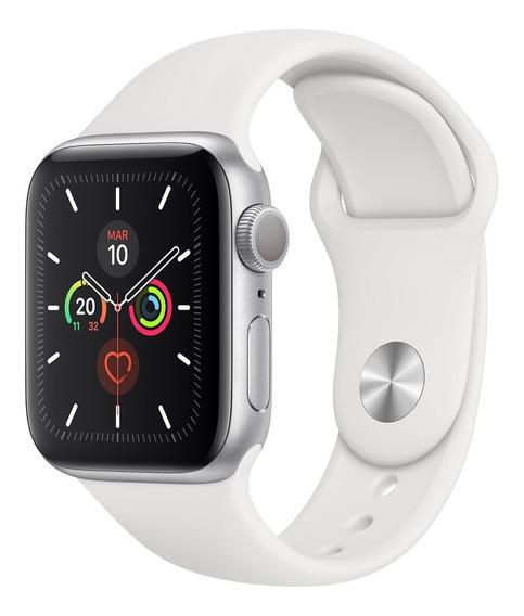 Apple Watch Caja De Aluminio Plata Correa Deportiva 40mm