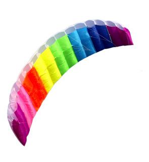 Novo 2 M Rainbow Dual Line Stunt Voando Kite Jogos Crianças