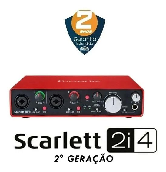 Interface De Audio Focusrite Scarlett 2i4 2ª Geração