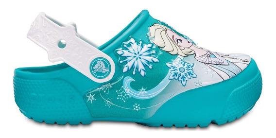 Zapato Crocs Niña Crocs Frozen Clog Aqua Con Luces