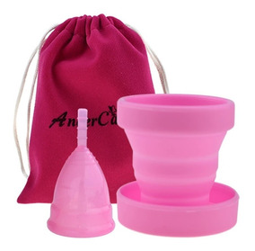 Coletor Copo Esterilizador Silicone Reutilizável Kit Fashion