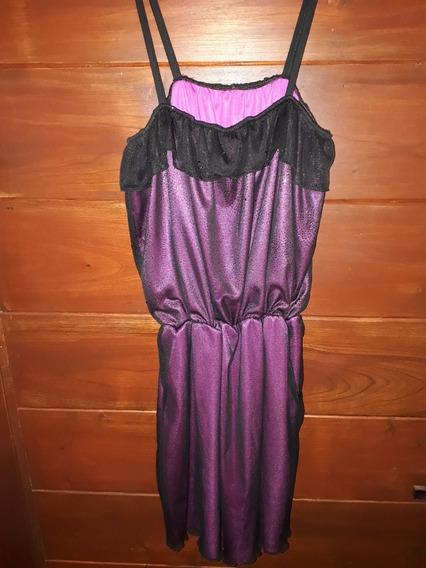 Vestido De Fiesta De Nena Con Forro Fuccia Divino!!!!