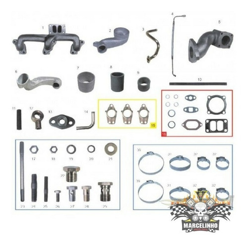 Kit Turbo Toyota Bandeirantes Om 364 / Mb 709