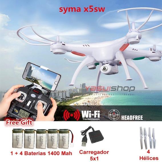Drone Syma X5sw-1 Necessita Celular Com Camera Bateria Extra
