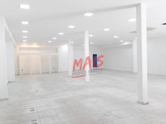 Loja Para Alugar, 670 M², Amplo Salão + Salas, Centro, Santos/sp - Lo0022