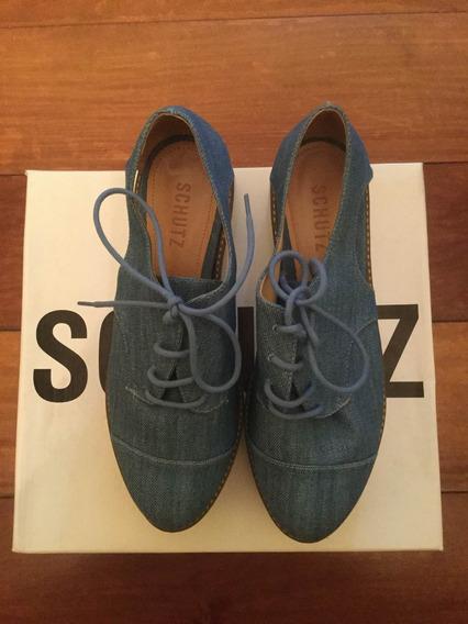 Sapato Jeans Schutz Flatform Tipo Tênis Novo Na Caixa 37