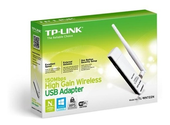Adaptador Red Wifi Tp-link 722n Usb 150mbps