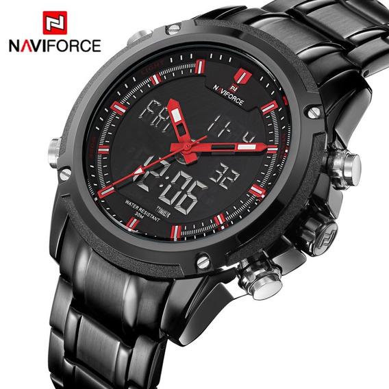 Relógio Masculino Marca Naviforce Top De Luxo Quartzo