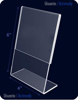 Porta Retrato En Acrílico De 2mm 4x6 - 10x15 Cm