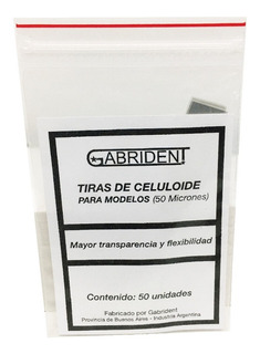 Tiras De Celuloide X 50u. Gabrident- Odontología
