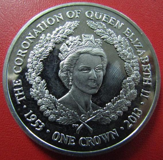 Islas Malvinas Moneda 1 Crown 2013 Unc Coronacion