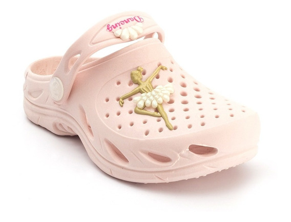 Babuche Plugt Ventor Bailarina Gliter Infantil - Rosa