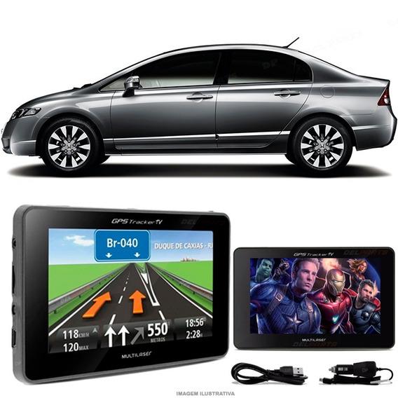 Navegador Gps Automotivo Civic Novo Tela 4.3 Touch Voz