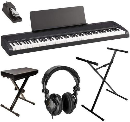 Korg B2 88-key Digital Piano, Black Bundle With Bench