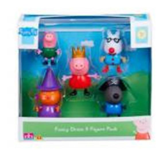 Bonecos Familia Peppa Pig 5 Figuras Amigos Dtc 4200