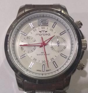 Reloj Montreal Hombre Modelo 7601c-10 Plata