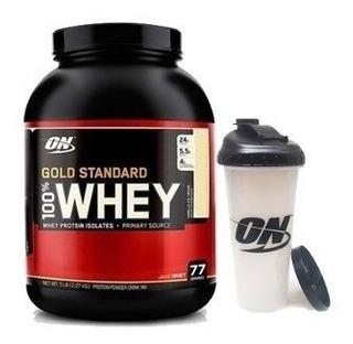 Proteina Whey Gold Standard 5 Lb Optimum + Vaso