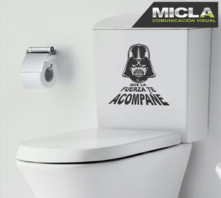 Frases Baño Inodoro Darth Vader 19cmx19cm