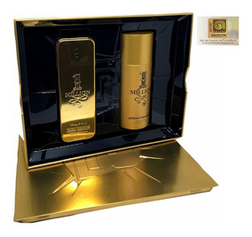 1 One Million Kit Paco Rabanne Edt 100ml + 150ml Desd Adipec
