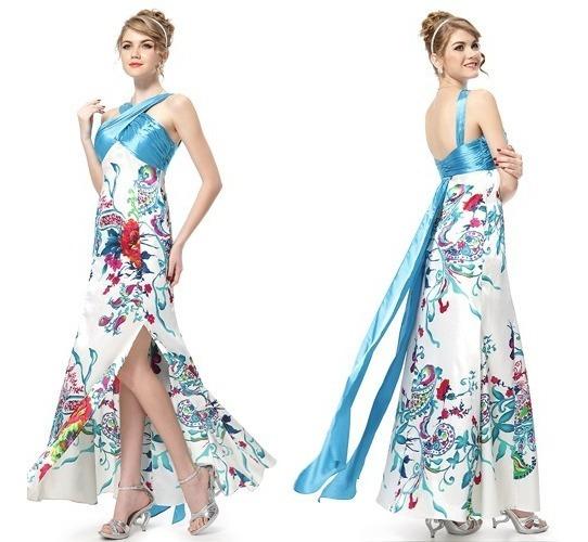Vestido De Saten11 Largo