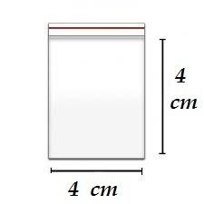 20000 Unidades Saco Abre Fecha Pacote Ziplock 4 X 4 Cm + 1,5