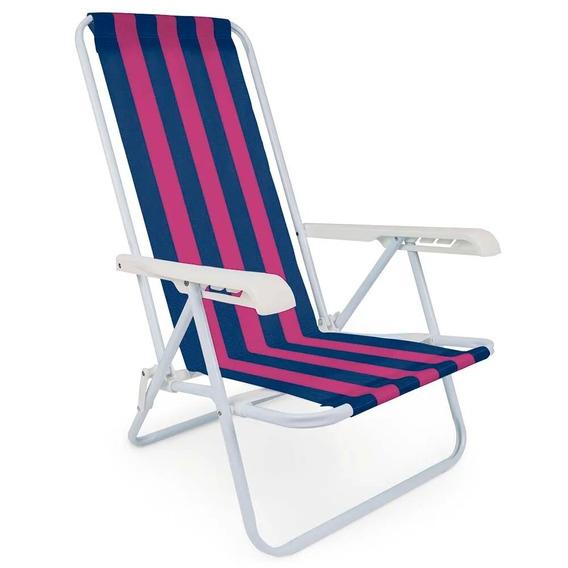 Cadeira De Praia Dobrável Mor Com 4 Posições