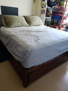 Base Cama Queen Con Cama Cuna Integrada