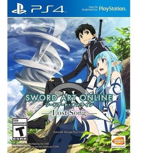 Sword Art Online Lost Song Ps4 Midia Fisica Novo Portugues