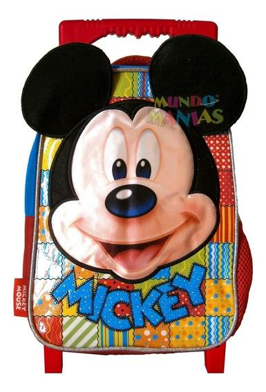 Mochila Carro Jardin 12p Mickey Disney Plush Mundo Manias