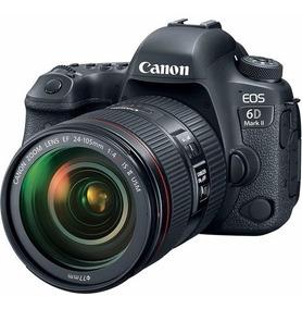 Câmera Canon 6d Mark Ii + 24-105mm F/4l Is Ii Loja Platinum