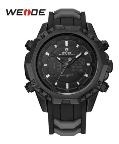 Relógio Weide Wh6406b-1c Preto, Militar Masculino Esportista