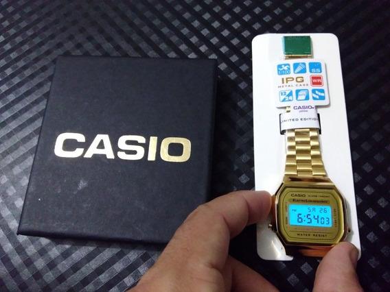 Relógio Casio Vintage Gold