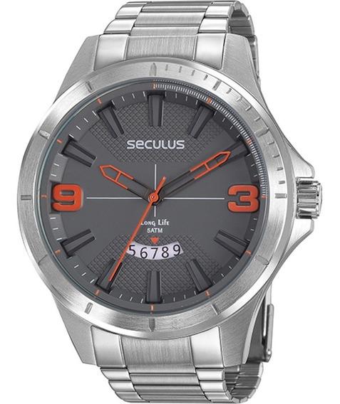 Relógio Masculino Seculus Prata 77035g0svna2