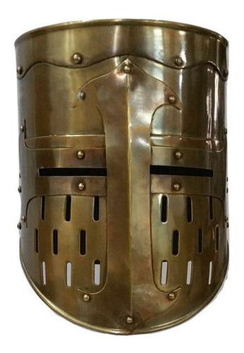 Imagen 1 de 3 de Casco Medieval Templario Bronce Antiguo Usable Oferta