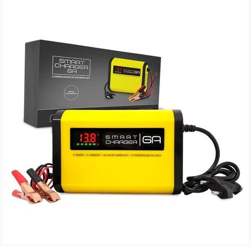 Carregador Bateria 6a 12v Universal Portatil Flutuante Fonte