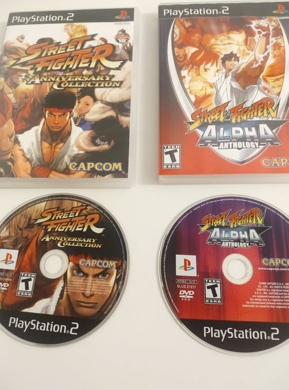 Street Fighter Anniversary + Alpha Anthology Ps2 Original