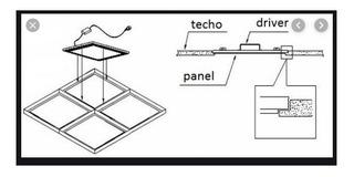 Marco Para Panel Led 60x60 Plafon Aplicar Blanco Lucciola