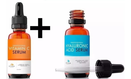 Ácido Hialuronico + Vitamina C 30ml C/u Hecho En Usa