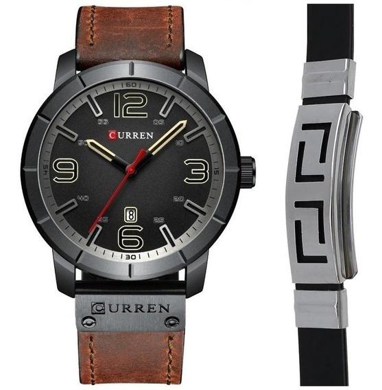 Relógio Masculino Curren Luxo Esportivo + Pulseira Bracelete