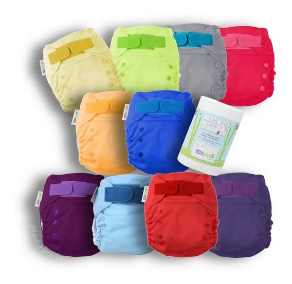Pack 10 Pañales Lisos Ecopipo Con Rollo Filtro -8% Incluido
