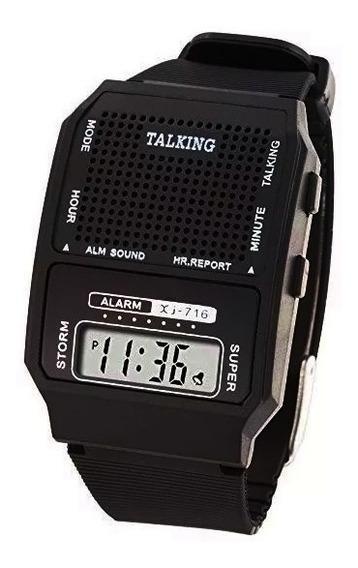 Reloj Talking Parlante Voz Español Habla Dice Hora Alarma